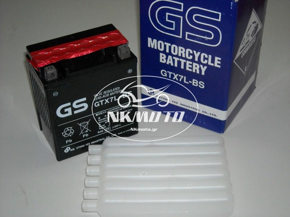 ΜΠΑΤΑΡΙΑ GTX7L-BS (YTX7L-BS) GS